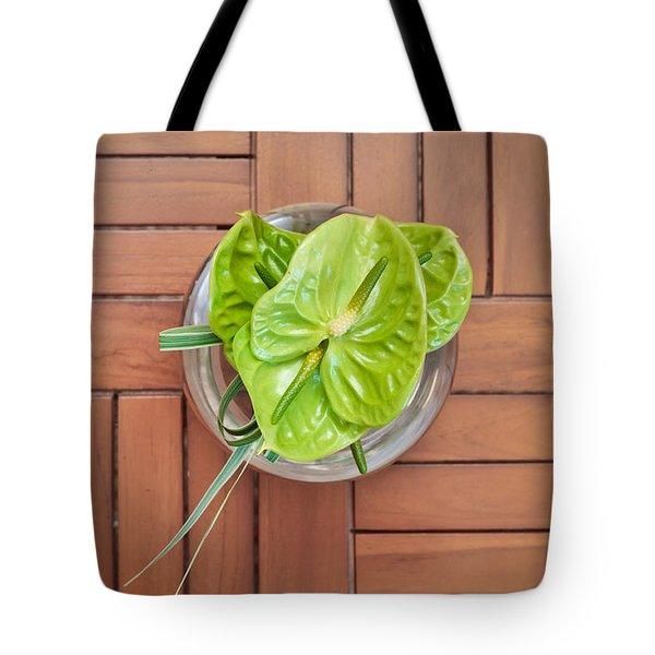 Tropical Flower Tote Bag by Tom Gowanlock