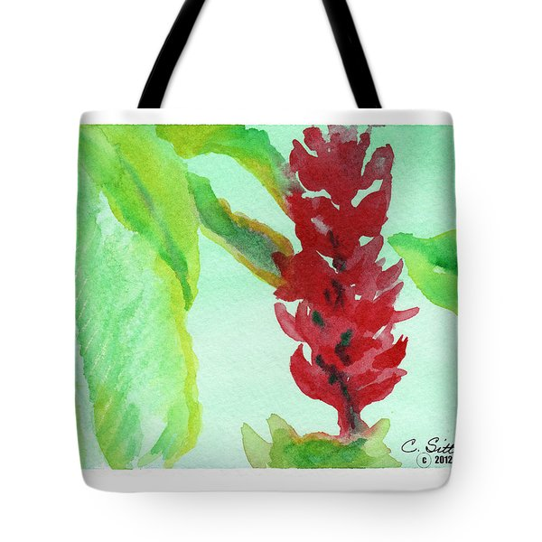Tropical Flowers 2 Tote Bag