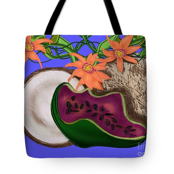 Tropical Fruit Tote Bag by Christine Fournier