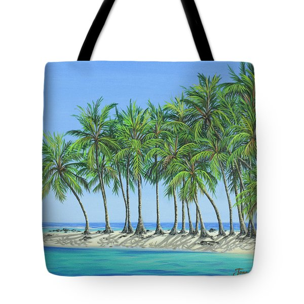 Tote Bag featuring the painting Tropical Lagoon by Jane Girardot
