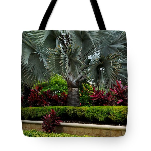 Tropical Landscape Tote Bag