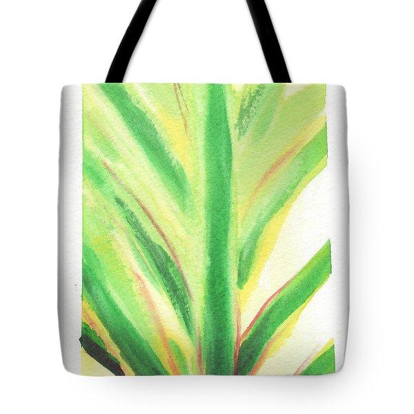 Tropical Leaf Tote Bag by C Sitton
