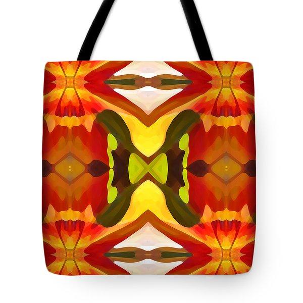 Tropical Leaf Pattern  11 Tote Bag by Amy Vangsgard