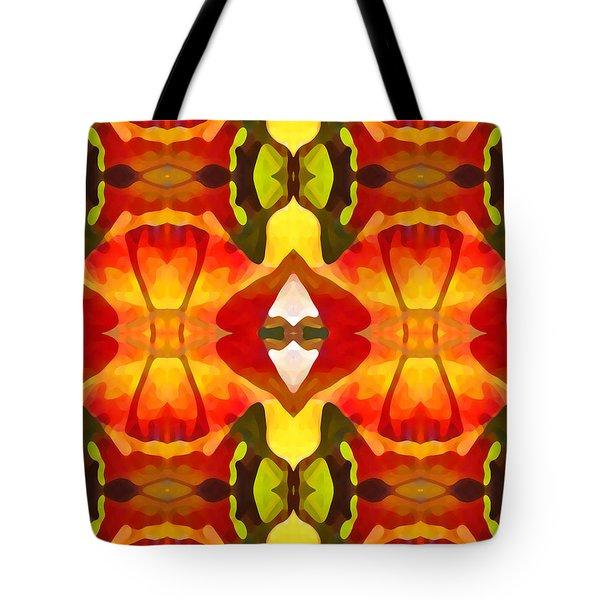 Tropical Leaf Pattern  12 Tote Bag by Amy Vangsgard