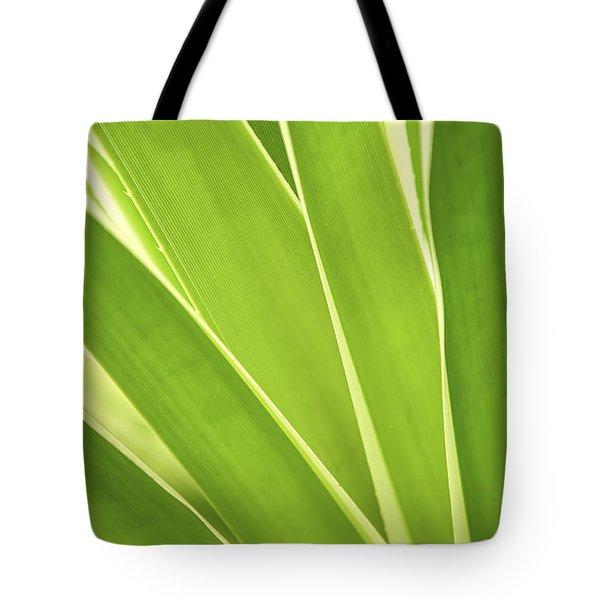 Tropical Leaves Tote Bag by Elena Elisseeva