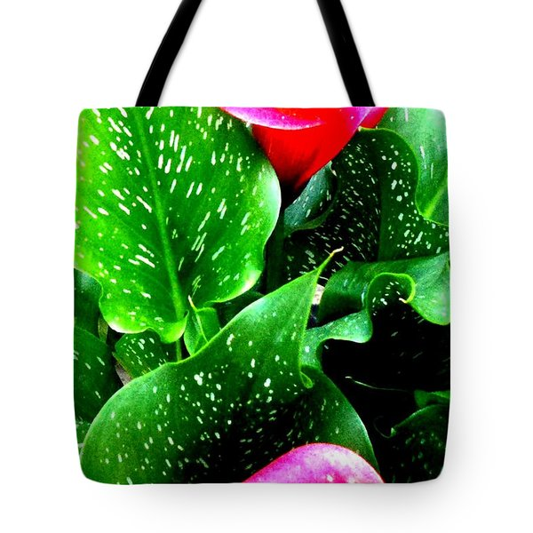Tropical Leaves Tote Bag by Marianne Dow