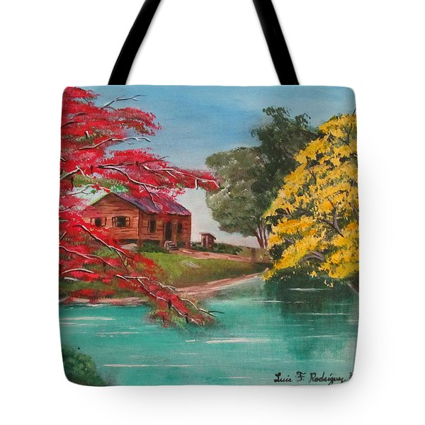 Tropical Lifestyle Tote Bag by Luis F Rodriguez