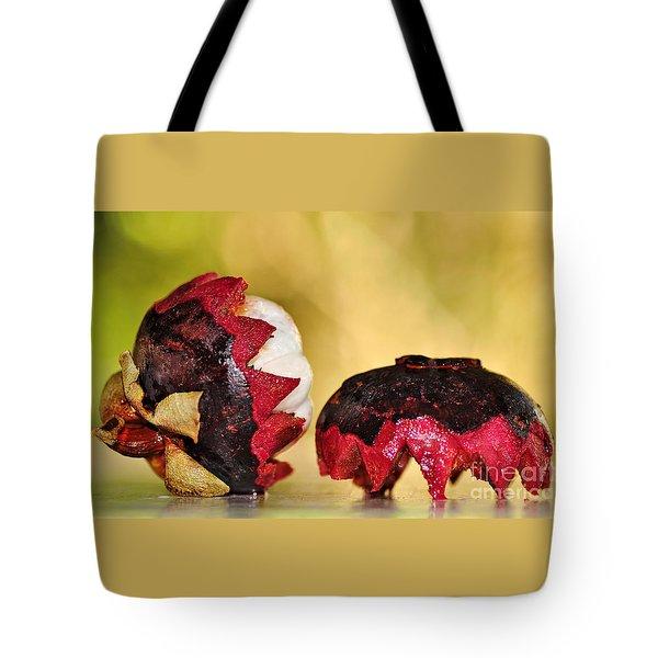 Tropical Mangosteen Tote Bag by Kaye Menner