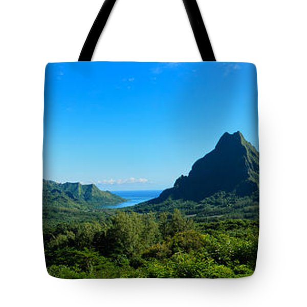 Tropical Moorea Panorama Tote Bag