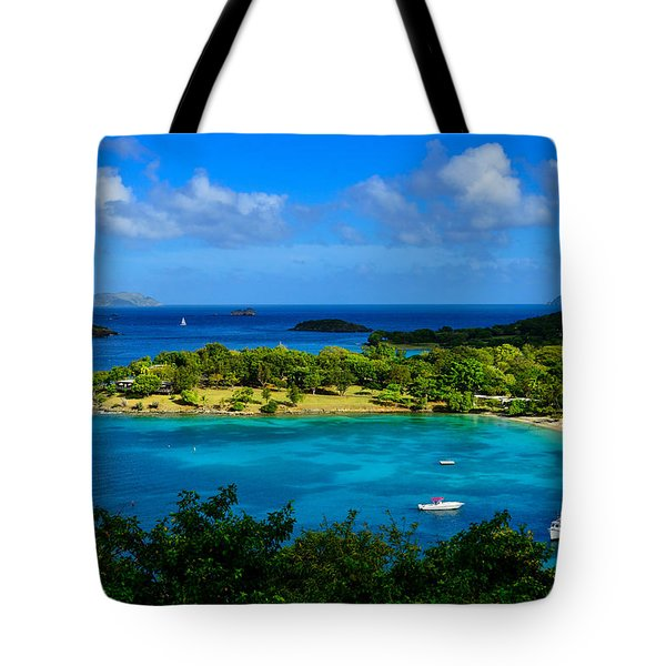 Tote Bag featuring the photograph Tropical Paradise In The Virgin Islands by Greg Norrell