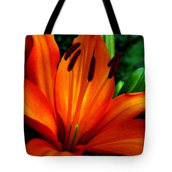 Tropical Passion Tote Bag by Karen Wiles