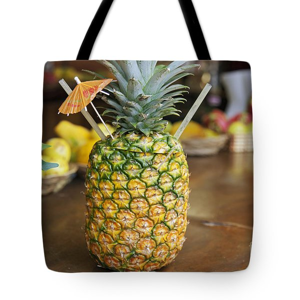 Tropical Pineapple Drink Tote Bag by Brandon Tabiolo