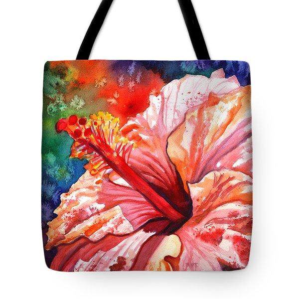 Tropical Pink Hibiscus Tote Bag