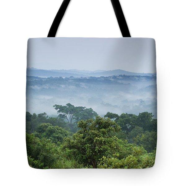 Tropical Rainforest Kibale Np Western Tote Bag