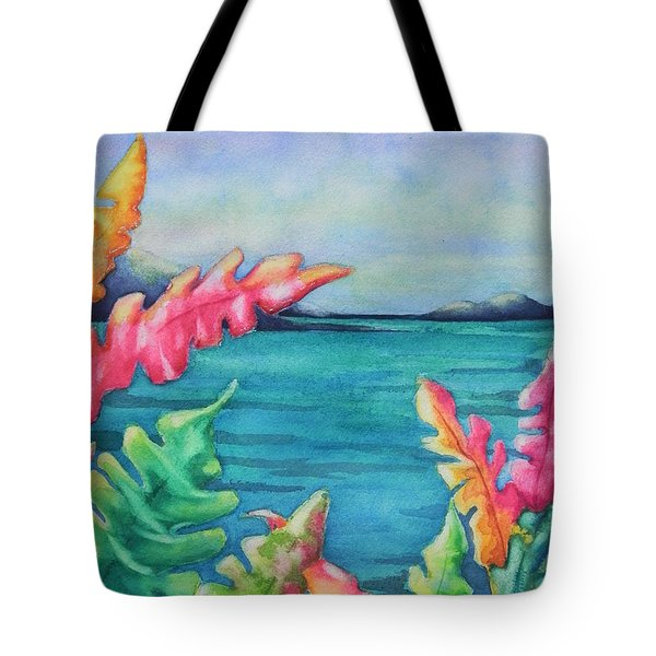 Tropical Scene Tote Bag by Chrisann Ellis