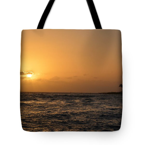 Tropical Sunset In Kauai Tote Bag