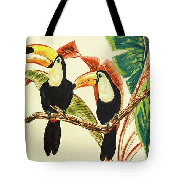 Tropical Toucans I Tote Bag
