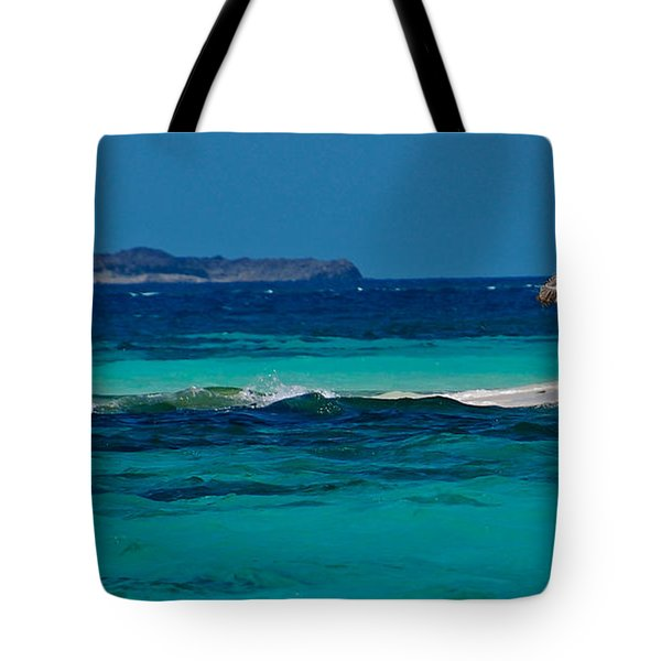 Tote Bag featuring the photograph Tropical Umbrella by Don Schwartz