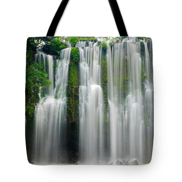 Tropical Waterfall Tote Bag by Oscar Gutierrez