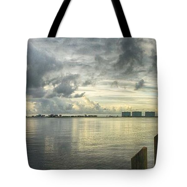 Tote Bag featuring the digital art Tropical Winds In Orange Beach by Michael Thomas