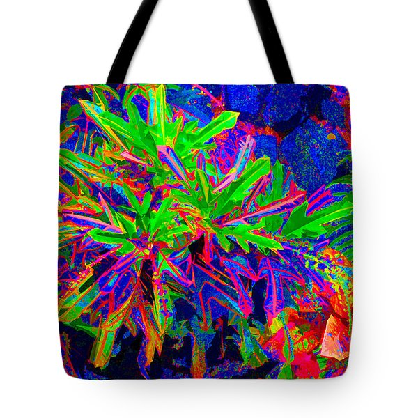 Tote Bag featuring the photograph Tropicals Gone Wild by David Lawson