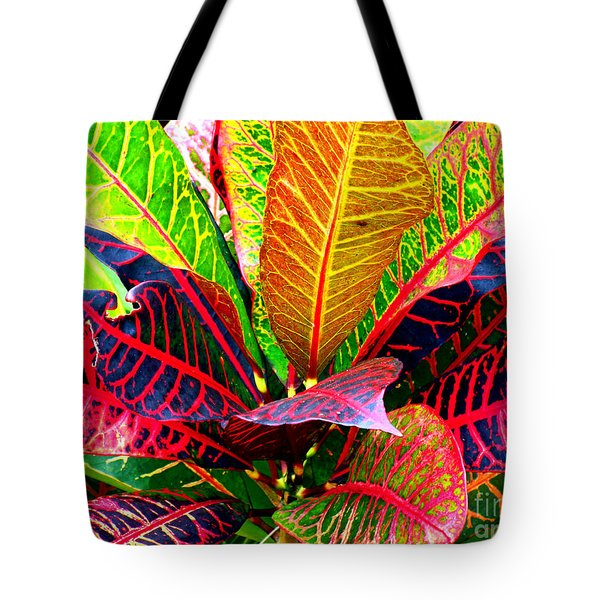 Tropicals Gone Wild Naturally Tote Bag by David Lawson