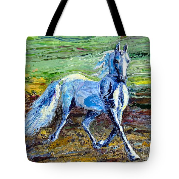 Trotting With Style Tote Bag by En-Chuen Soo