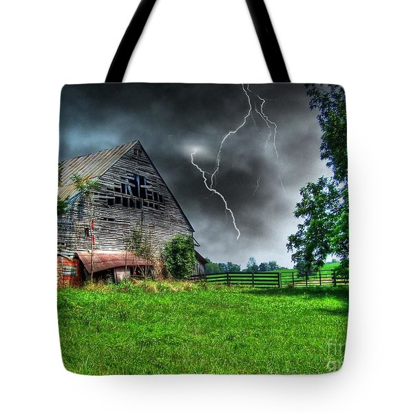 Trouble Brewing Tote Bag by Dan Stone