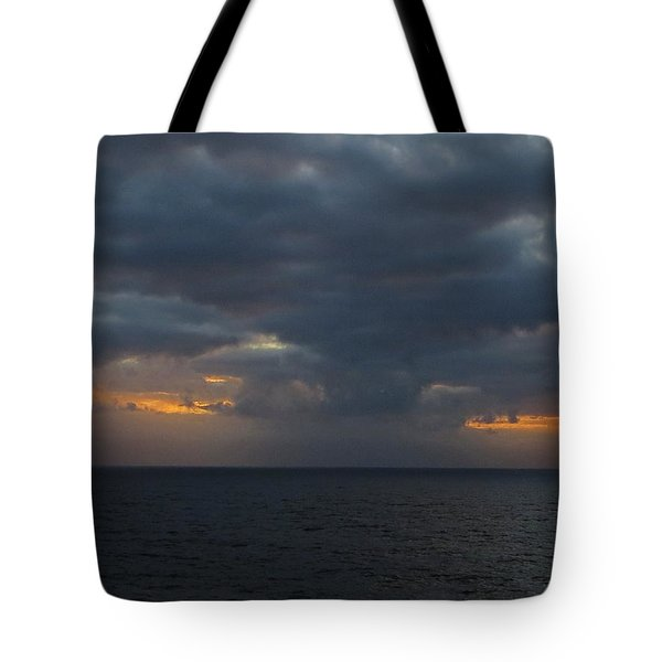 Tote Bag featuring the photograph Troubled Skies by Jennifer Wheatley Wolf