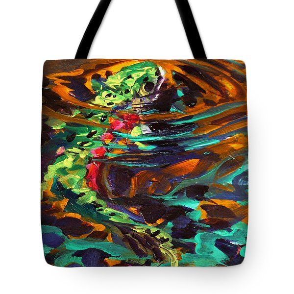 Trout And Fly II Tote Bag by Savlen Art