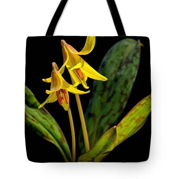 Trout Lilies Tote Bag