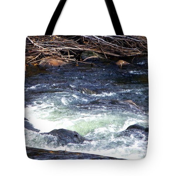 Tote Bag featuring the photograph Trout River by Jackie Carpenter
