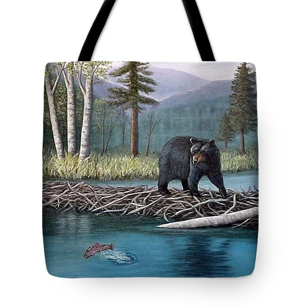 Trout Temptation Tote Bag