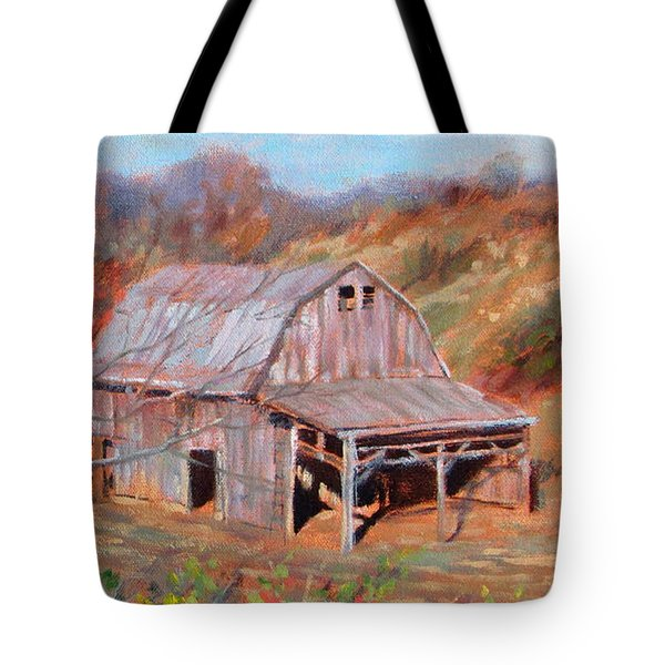 Troutville Barn Tote Bag by Bonnie Mason