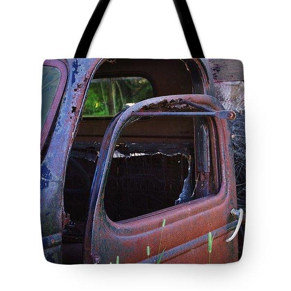 Truck And  Door Tote Bag by Randy Pollard