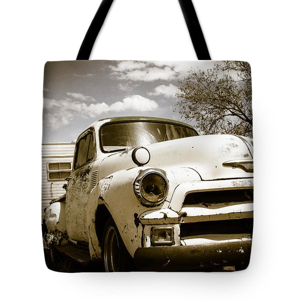 Tote Bag featuring the photograph Truck And Trailer by Steven Bateson