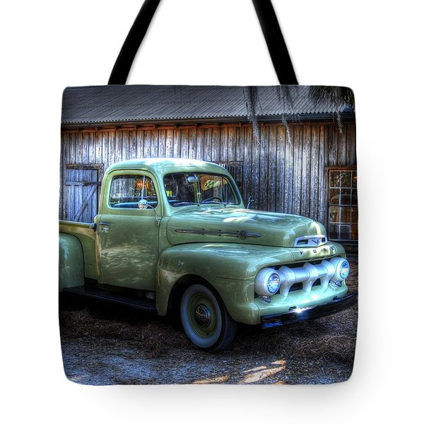 Truck By The Barn Tote Bag