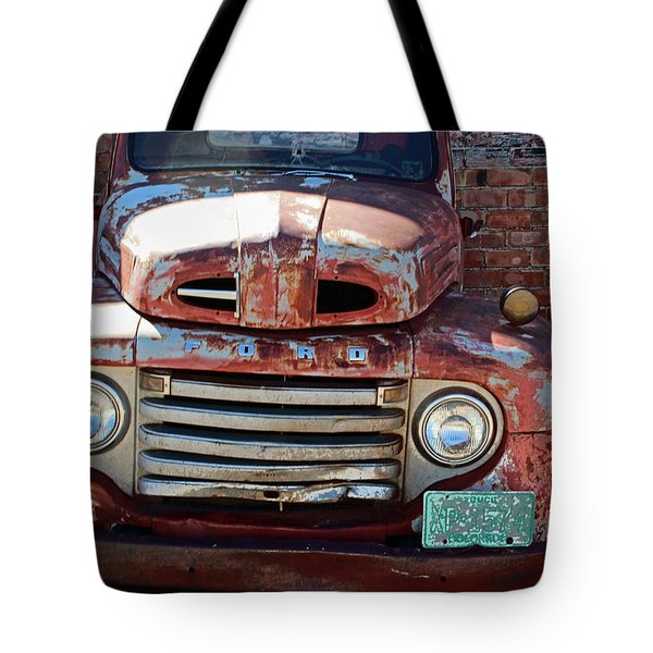 Tote Bag featuring the photograph Ford In Goodland by Lynn Sprowl