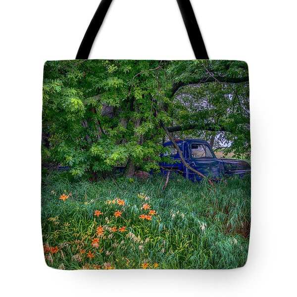 Truck In The Forest Tote Bag by Paul Freidlund