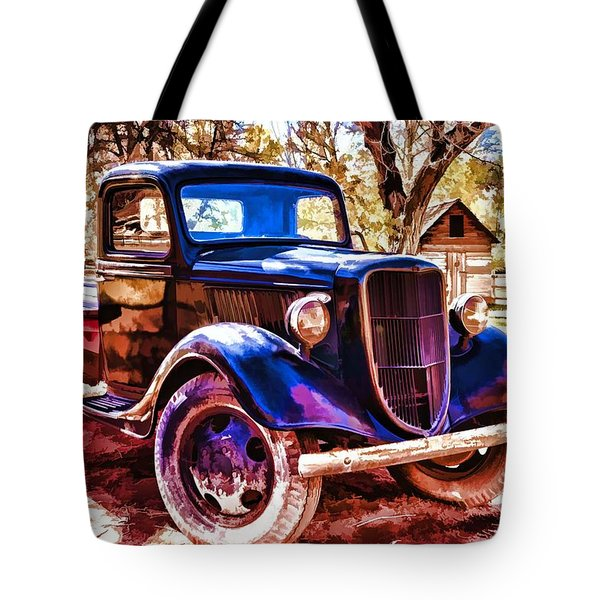 Tote Bag featuring the painting Truck by Muhie Kanawati