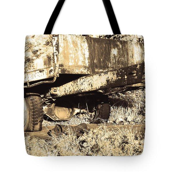 Truck Wreckage II Tote Bag by Cassandra Buckley