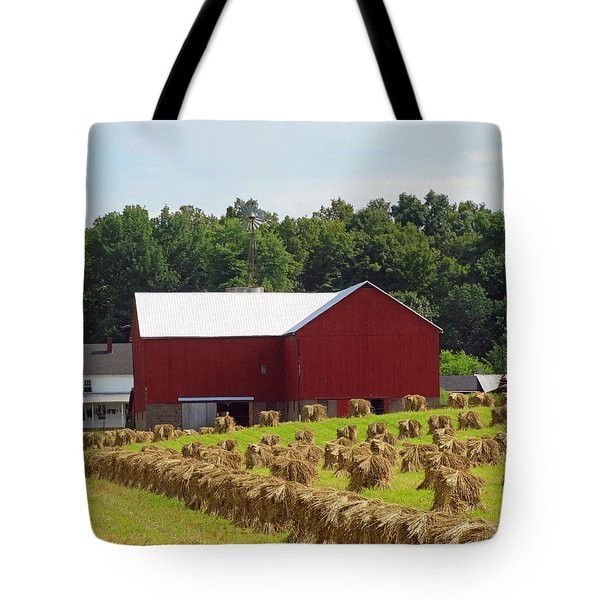 True Amish Farm Tote Bag