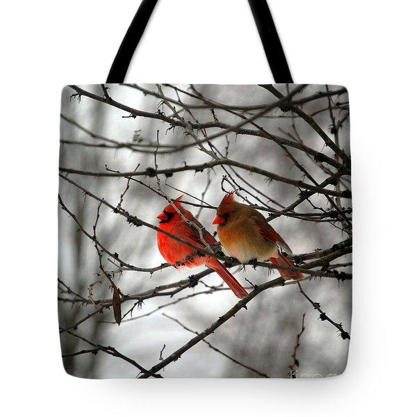 True Love Cardinal Tote Bag