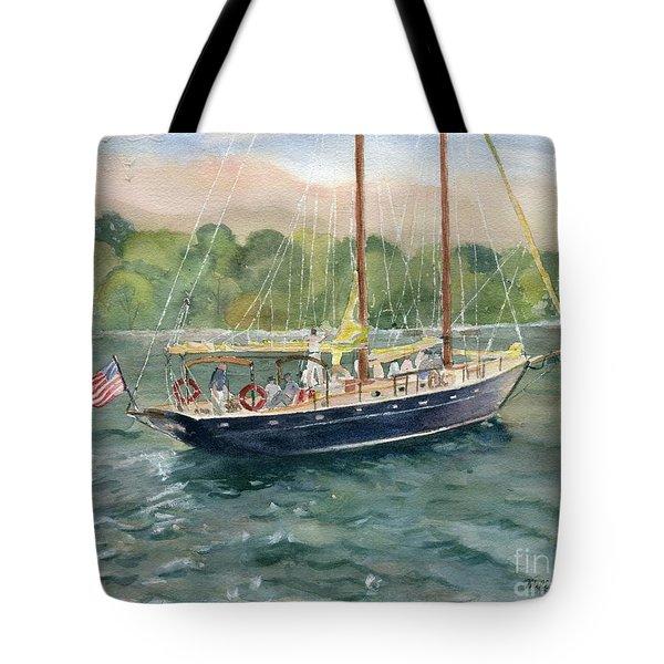 True Love Schooner Tote Bag by Melly Terpening
