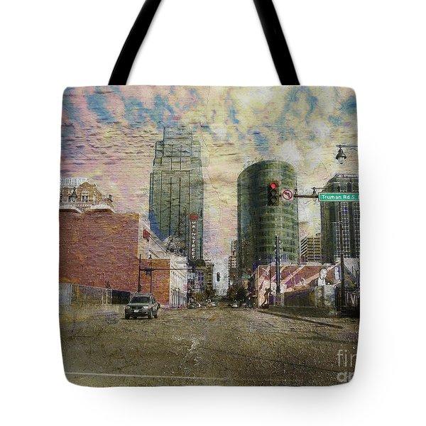 Truman Road Kansas City Missouri Tote Bag by Liane Wright