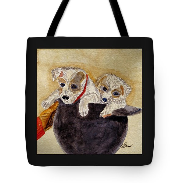 Trump And Tillie Tote Bag by Angela Davies