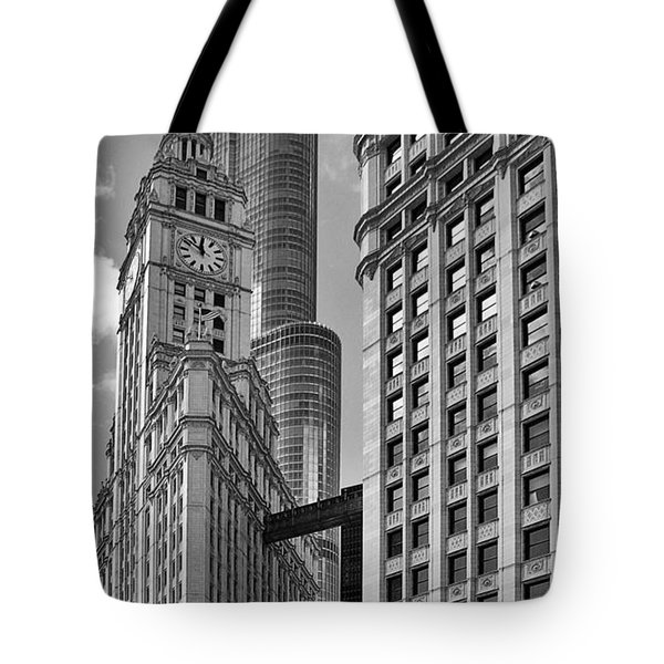 Trump And Wrigley In Harmony Tote Bag by Christine Till