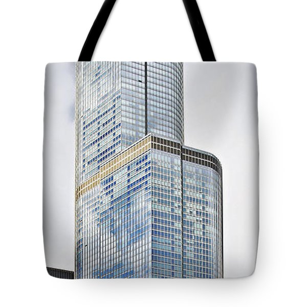 Trump Tower Chicago - A Surplus Of Superlatives Tote Bag by Christine Till