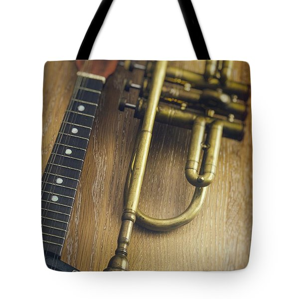 Trumpet And Banjo Tote Bag