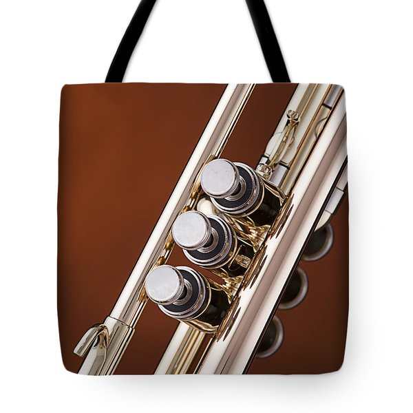 Trumpet Or Cornet Valves Isolated In Color 3017.02 Tote Bag